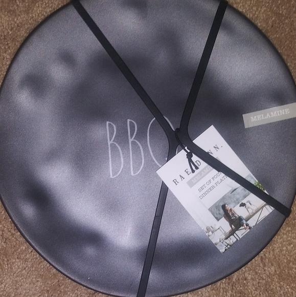 Rae Dunn black BBQ plates
